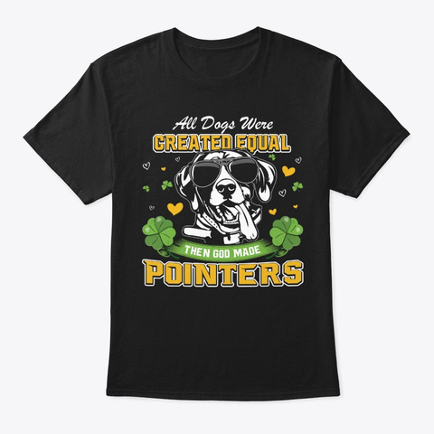 St Patricks Day Pointers Black T-Shirt Front