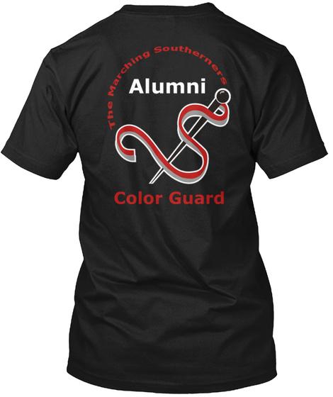 Jsu The Marching Southerners Alumni Color Guard Black T-Shirt Back