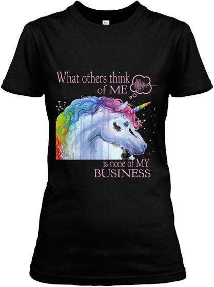 What Other Think Of Me Is None Of My Business Black Women's T-Shirt Front