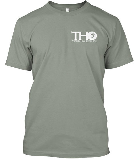 Tho Turkey Hill Outdoors Grey T-Shirt Front
