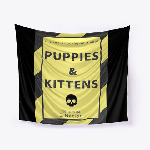 Puppies &Amp; Kittens Black T-Shirt Front