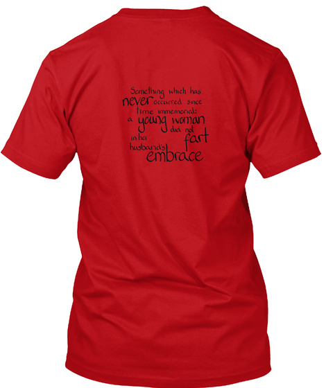 Sumerian Farting Proverb Red T-Shirt Back