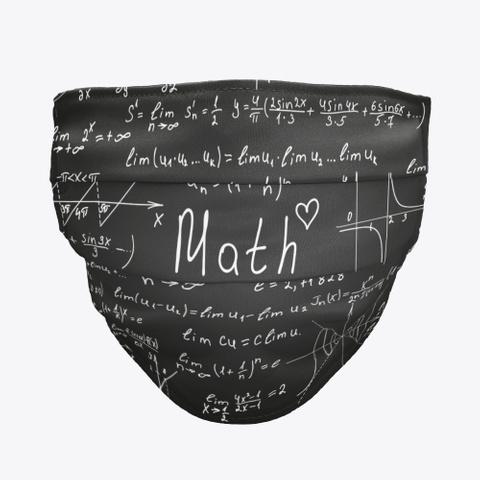 Awesome Mathematics Pattern Mask Gift Black T-Shirt Front