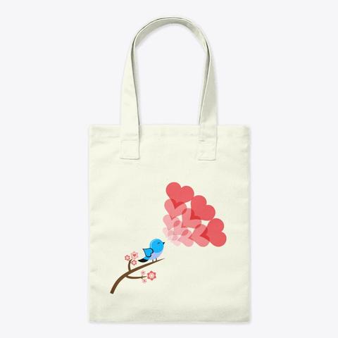 Twitterbackground Emoji Love Heart Natural T-Shirt Front