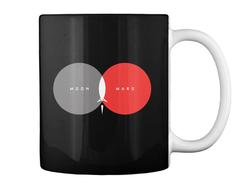 From Moon To Mars Mug [Int] #Sfsf Black Mug Back