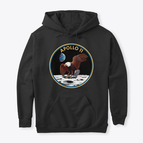 Apollo 11 Pullover Black T-Shirt Front