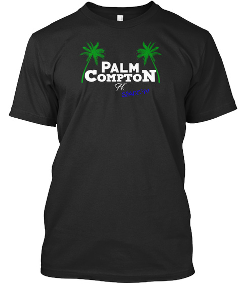 Palm Compton Bold Black T-Shirt Front