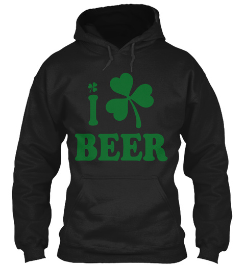 I Beer Black T-Shirt Front