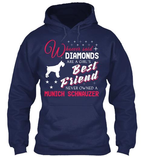 Munich Schnauzer Gift Shirt Navy T-Shirt Front