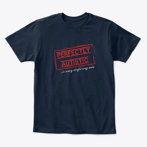 Perfectly Autistic Children's Tee (Alt) New Navy T-Shirt Front