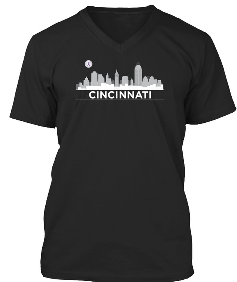 Cincinnati Black T-Shirt Front