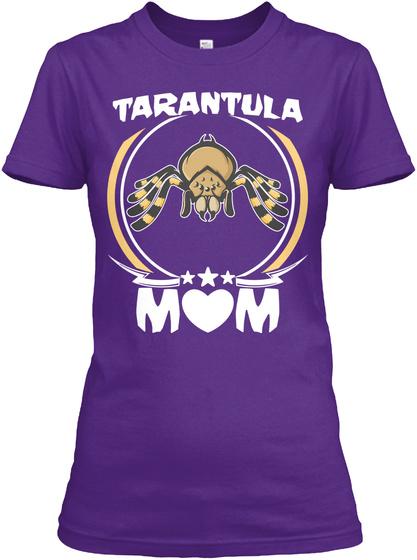 Tarantula Mom Shirt Cute Mother Day Gift Purple T-Shirt Front