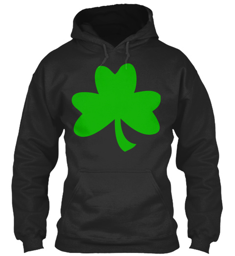 Top New Design Better Day   One Shamrock Jet Black Sweatshirt Front