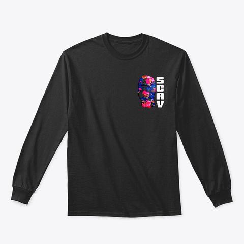 Sensei Scav's Meditation 2 Sided Black T-Shirt Front