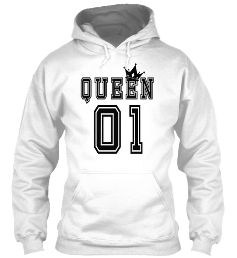 Valentines Matching Couples Queen Jersey White T-Shirt Front