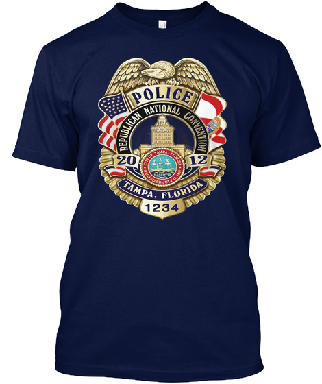 Police 1234 Beautiful T'shirt Navy T-Shirt Front