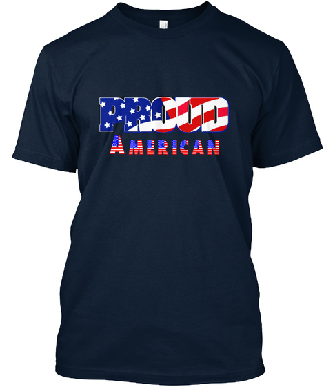 Proud American New Navy T-Shirt Front