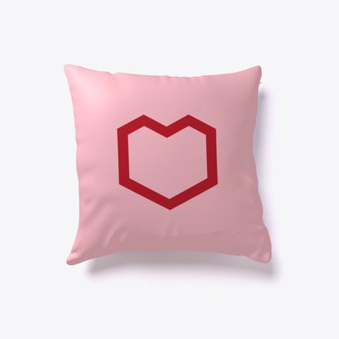 Hex Heart Pillow Pink T-Shirt Front