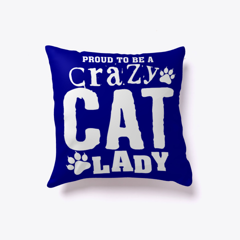 Crazy Cat Lady Pillow Deep Navy T-Shirt Back