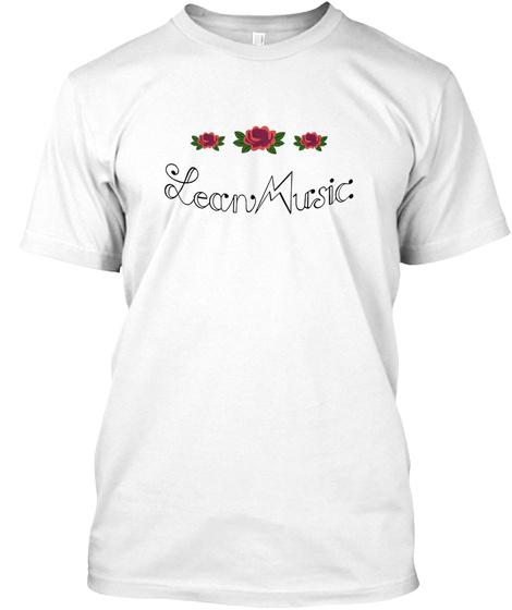 Lean Music Records ™ Hip Hop Clothin'shop White T-Shirt Front