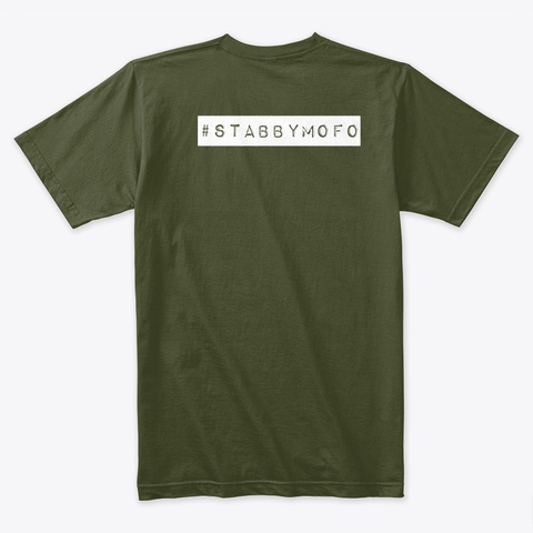 Offensive Industries 2019 Military Green T-Shirt Back