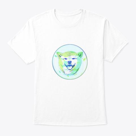 Pop Art Shiba (1) White T-Shirt Front