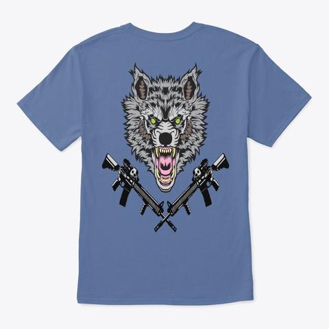Wild Wolf Denim Blue T-Shirt Back