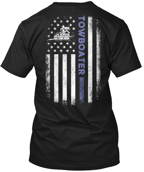 Towboater Black T-Shirt Back
