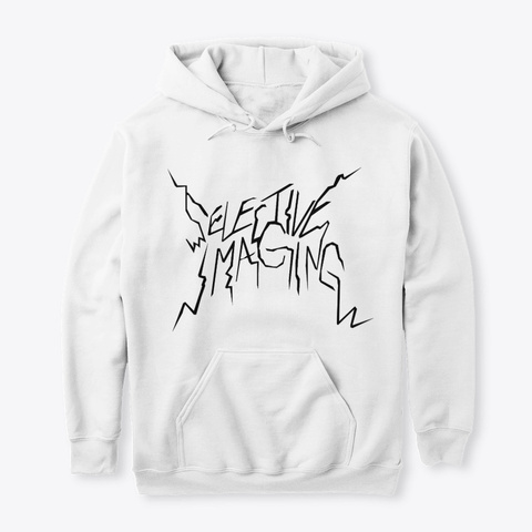 """""""Selective Imaging""""    Hoodie White T-Shirt Front"""