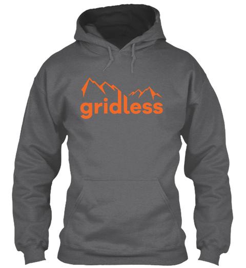 Gridless Life Classic Hoodie Dark Heather Sweatshirt Front