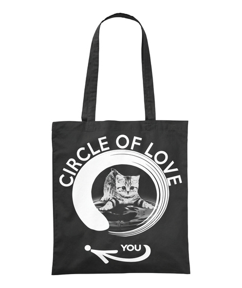 Circle Of Love You Black T-Shirt Front