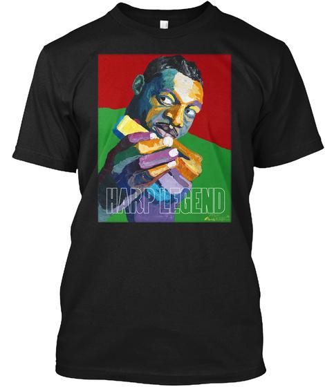 Harp Legend Black T-Shirt Front