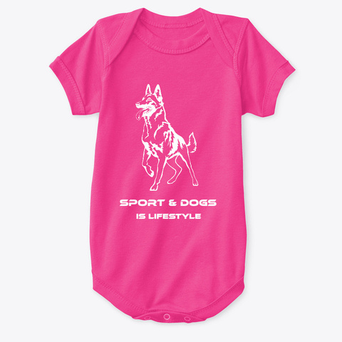 Sport And Dogs Colors Hot Pink T-Shirt Front