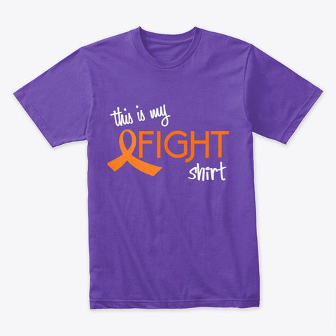 This Is My Fight Shirt Plum T-Shirt Front