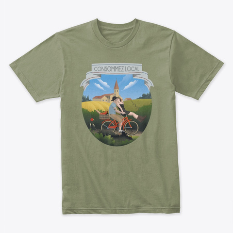 Consommez Local Light Olive T-Shirt Front