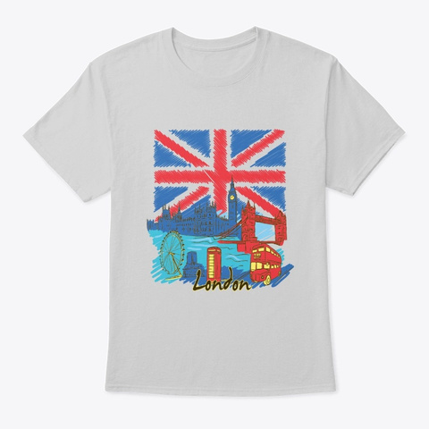 London   Awesome London Lover Gift Light Steel T-Shirt Front