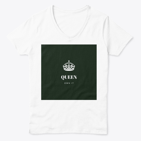 Self Less Co.  Queen Own It White  T-Shirt Front
