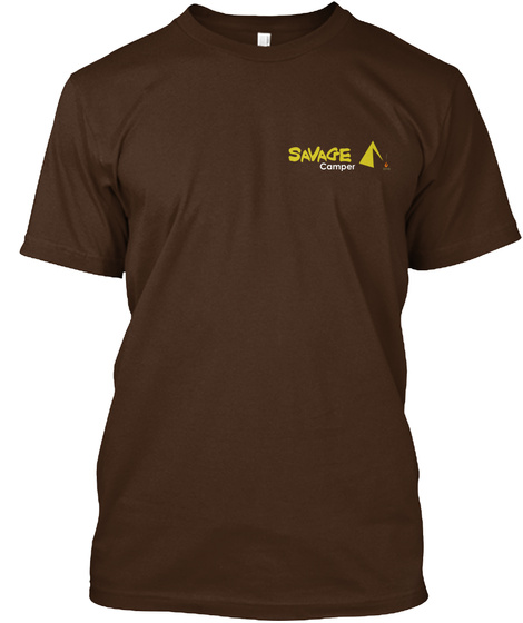 Savage Camper Premium T Shirt Dark Chocolate T-Shirt Front
