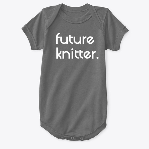 Future Knitter (6 Mesi  24 Mesi) Charcoal T-Shirt Front