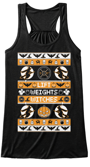 Lift Weights Witches  Black Women's Tank Top Front