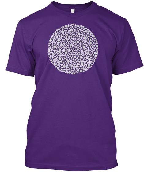 Ishihara Cluster Purple T-Shirt Front