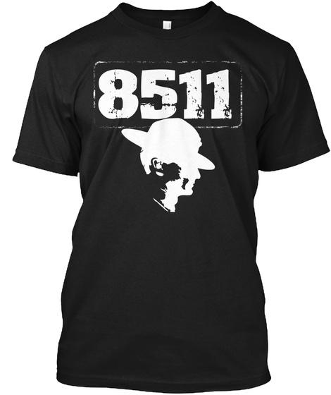 8511 Black T-Shirt Front