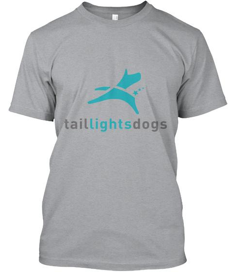 Taillightsdogs Heather Grey T-Shirt Front