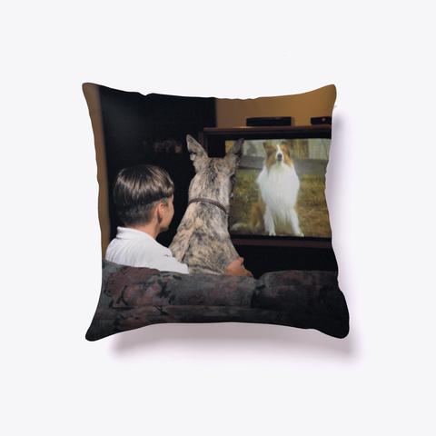 Best Of Friends Greyhound Pillow White T-Shirt Front