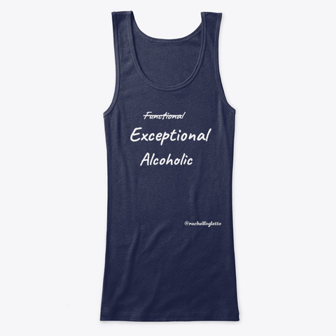 Exceptional Alcoholic Navy T-Shirt Front