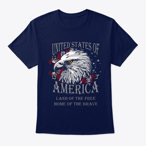 Veteran Home Of The Brave Navy T-Shirt Front