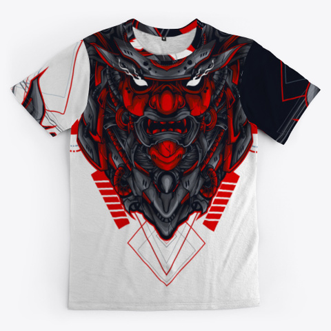 Traditional Japanese Samurai  Mask Standard T-Shirt Front