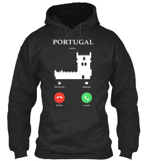 Portugal Jet Black T-Shirt Front