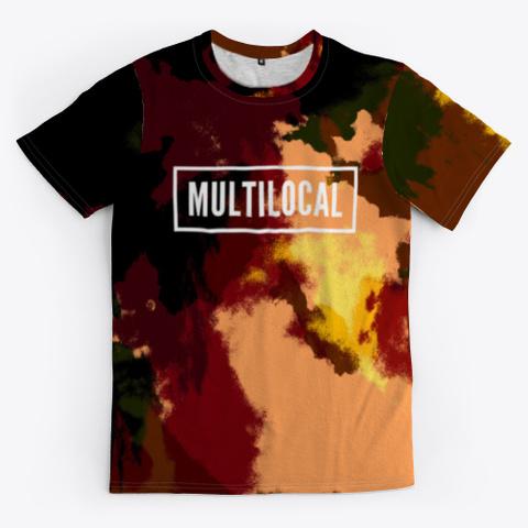 Multilocal   Batik Tie Dye Camouflage Standard T-Shirt Front