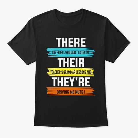 Funny There Are People Who Didn't Listen Black T-Shirt Front